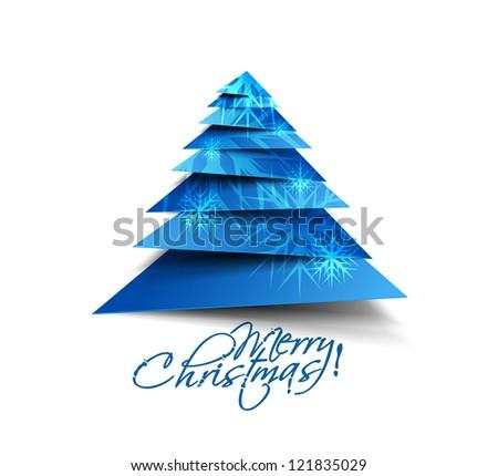 Modern christmas tree background, eps10 vector illustration - stock vector