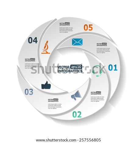 Vector Circle Infographic Template Diagram Graph Stock Vector ...
