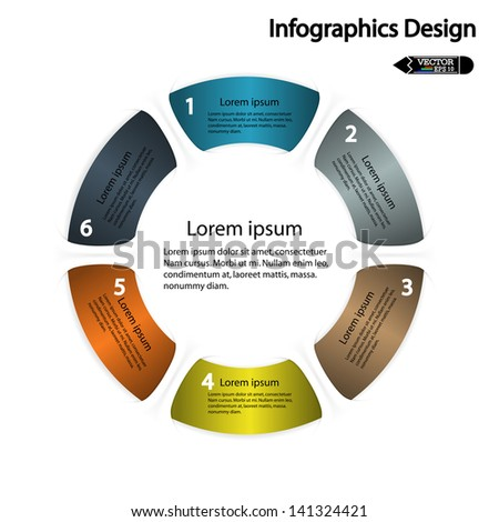 modern circle infographics options banner. Vector illustration. can be used for work flow layout, diagram, number options, web design. - stock vector