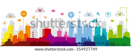 Modern city - stock vector