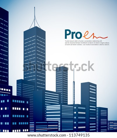 Modern city landscape background - stock vector