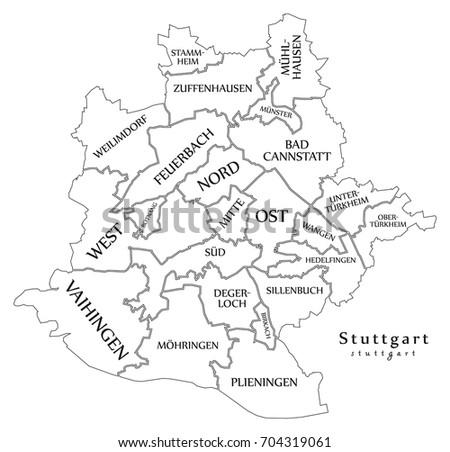 Stuttgart Map Stock Images RoyaltyFree Images Vectors - Germany map stuttgart
