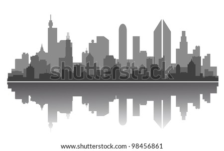 Modern city skyline for business or architecture concept design. Jpeg version also available in gallery - stock vector