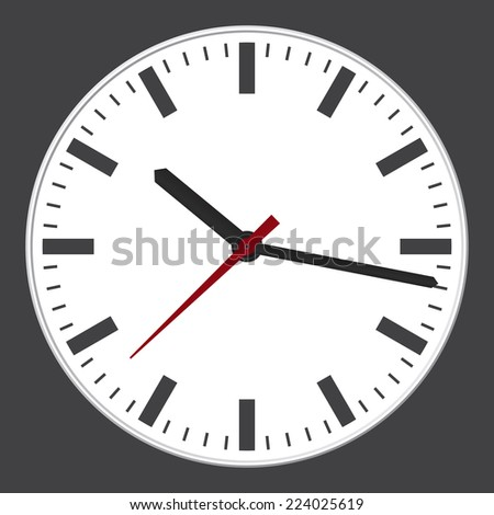 Modern clock. Vector illustration. - stock vector