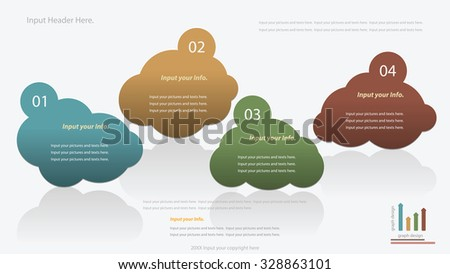 Modern cloud infographics options banner. Vector illustration. can be used for workflow layout, diagram, number options, web design. - stock vector