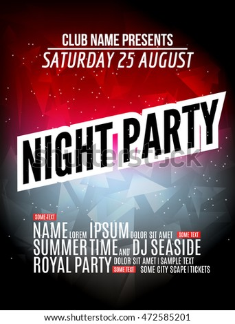 Party Flyer Here You Have A Free Psd Flyer Template Have Fun With