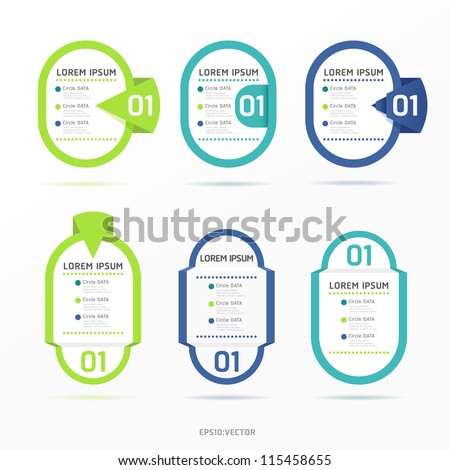 Modern color  Design label  / can be used for infographics / numbered banners / horizontal cutout lines / graphic or website layout vector - stock vector
