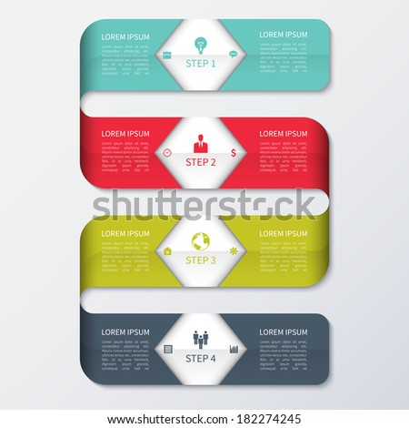 Modern Colorful Business Infographics Template - stock vector