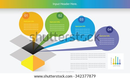 Modern colorful circle infographic options banner. Vector illustration. can be used for workflow layout, diagram, number options, web design. - stock vector