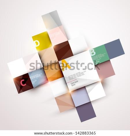 Modern colorful design - stock vector