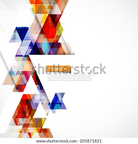 Modern colorful geometric abstract template on white background  and space for text, Vector illustration  - stock vector