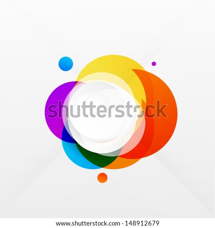 Modern colorful geometrical circles design - stock vector