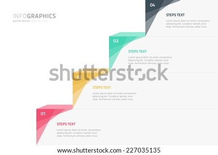 Modern colorful step by step infographics - eps10 vector illustration - stock vector