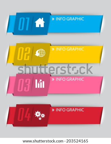 modern colorful text box for website, numbers, icon.