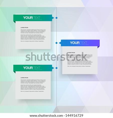 Modern colorful timeline design template Eps 10 vector illustration - stock vector