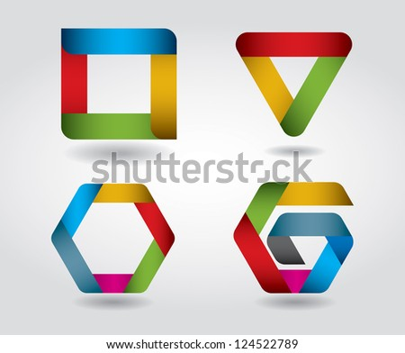 Modern colorful vector design elements - stock vector