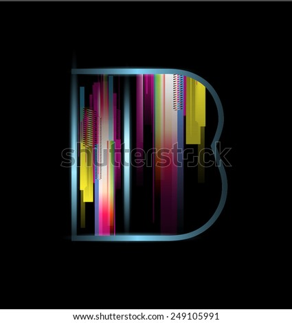 Modern Colourful font - stock vector