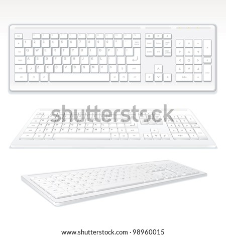 Modern Computer Keyboards, vector illustration - stock vector
