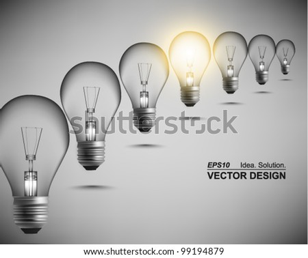 modern conceptual digital light bulb design - stock vector