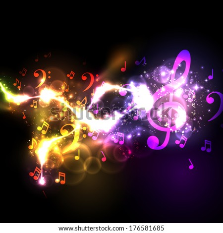 modern conceptual music notes vector design - stock vector