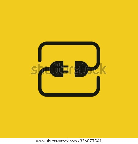 Modern connector icon.  - stock vector