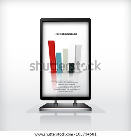 Modern construction, diagram, vector, design - stock vector