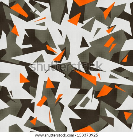 modern cool camouflage - stock vector