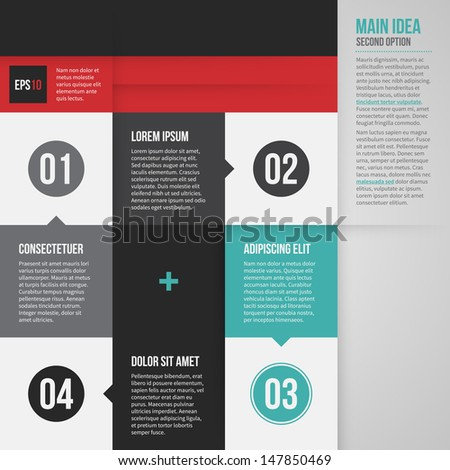 Modern corporate layout with 4 options. EPS10. - stock vector