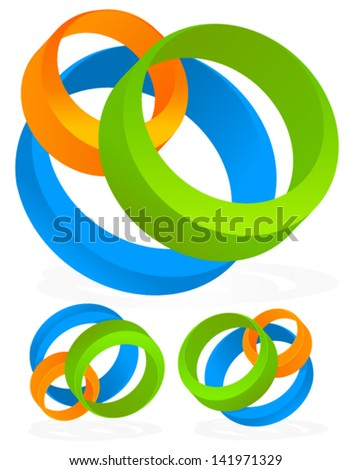 Modern Corporate Style Logo Elements - stock vector