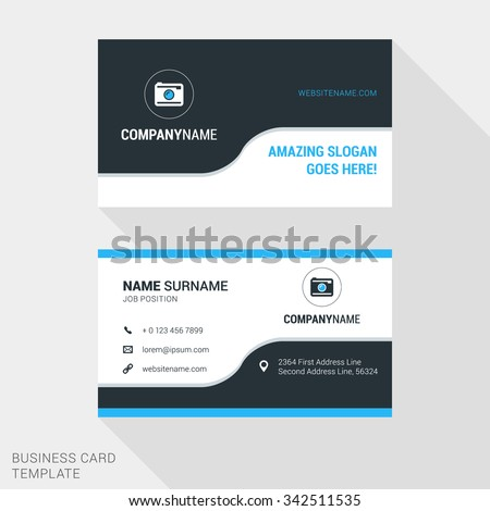 Business Card Stock Images RoyaltyFree Images Vectors - Website business card template