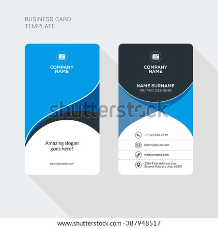 Modern creative clean two sided business stock vector hd royalty modern creative and clean two sided business card template flat style vector illustration vertical wajeb Images