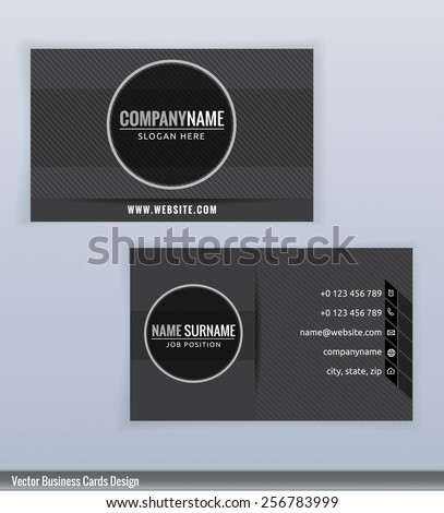 Business Card Design Templates Luxury Graphic Stock Vector - Business cards examples templates