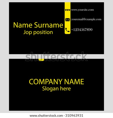 modern creative business card isolated