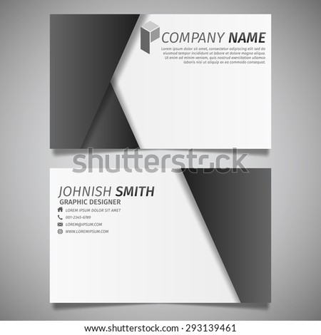 Modern creative design simple business card stock vector royalty modern creative design simple business card black and white polygon template vector reheart