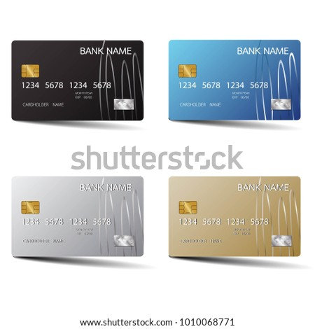 Modern credit card set template design stock vector 1010068771 modern credit card set template design with inspiration from the abstract vector illustration reheart Choice Image