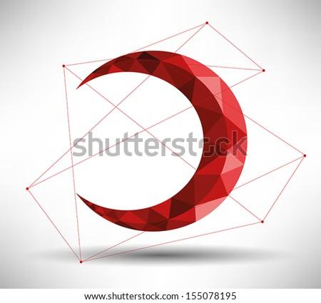 Modern Crescent Design - stock vector