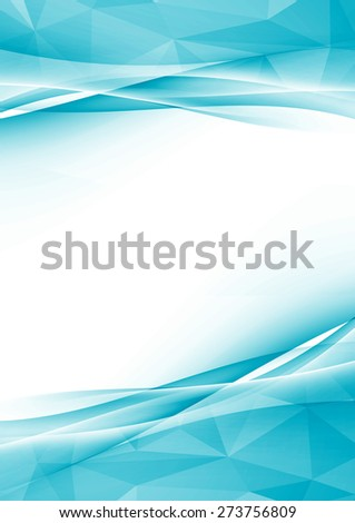 Modern crystal abstract border folder design textured layout with blank space for text in the middle. Vector illustration - stock vector