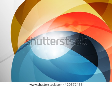 Modern curve stripes template, corporate business background - stock vector