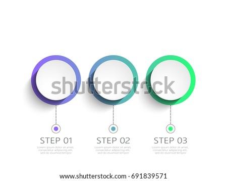 Modern 3d Infographic Template 4 Steps Stock Vector 536816233 ...