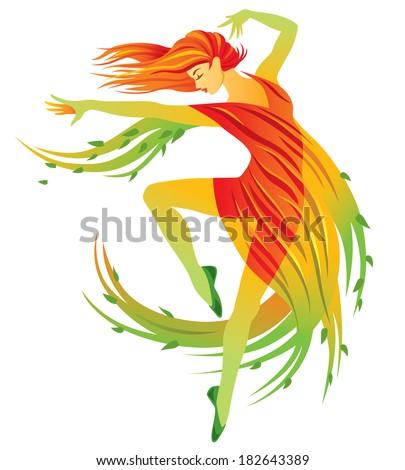 Modern Dance Summer - stock vector