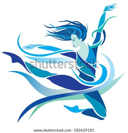 Modern Dancing - stock vector