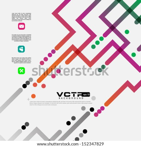 Modern Design Background - stock vector