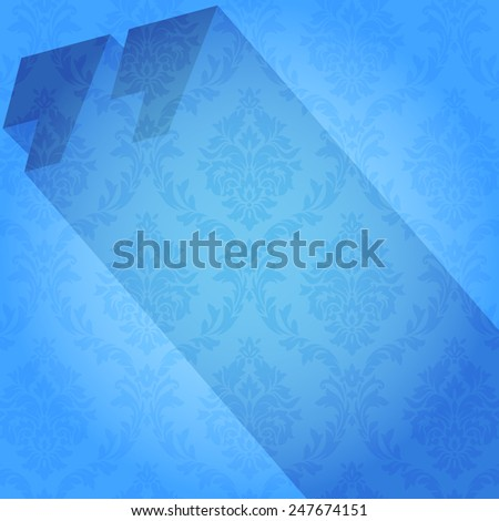 Modern design background for a quote. Quotation mark, and the long shadow, quote bright font. Vector template - stock vector