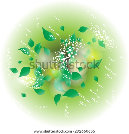 Modern design background with leaves, illustration. Latex