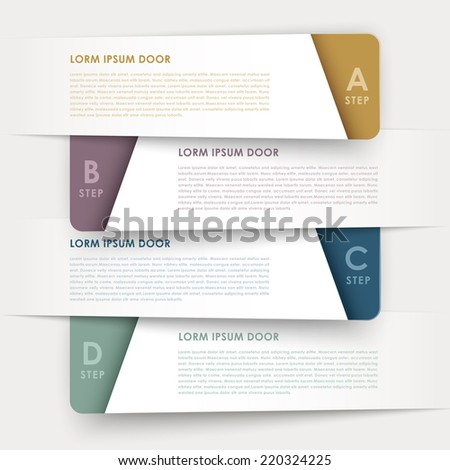 modern design banners template infographic elements isolated on white - stock vector