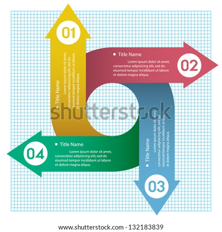 Modern Design circle template numbered banners / can be used for info-graphics. vector. - stock vector