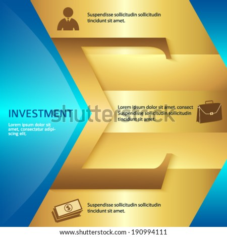 Modern design element bright glowing background for a cover brochure layout or business investment presentation template with the sign of the arithmetic sum and item number. Vector illustration eps 10 - stock vector