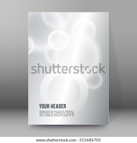 Modern Design geometric style template on blur gray circle background with space place for your text. Vector illustration EPS 10 for title page newsletter for new products or sales, electronic theme - stock vector