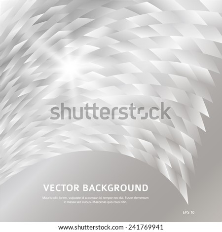 Modern Design geometric style template on glowing background with space place for your text. Black white shapes & wave lines. Vector illustration EPS 10 for new product theme booklet - stock vector