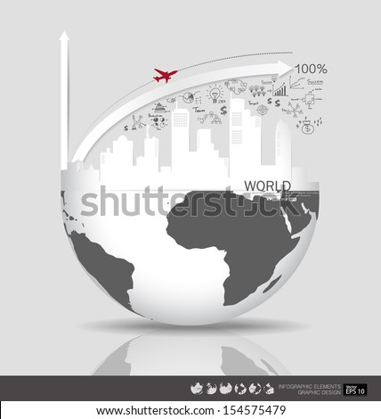 Modern design graph with drawing business strategy plan concept idea, can use for business concept. Vector illustration. - stock vector